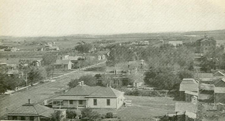 1908 View of North Ashland, Kansas from courthouse