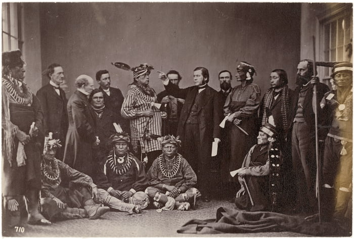Sauk, Fox and Kaw Delegation to Washington in 1867