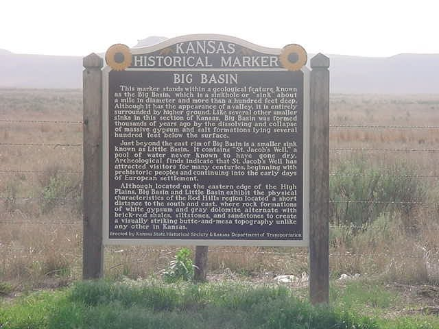 Big Basin Kansas Historical Marker