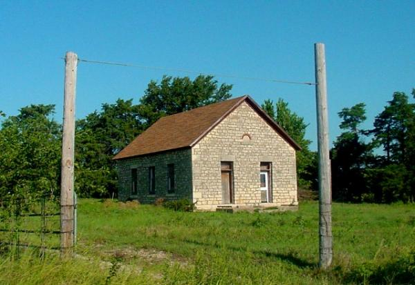 The Snokomo Schoolhouse, 8 mi. S. of Paxico, Wabaunsee, Kansas